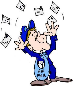 mailman juggling mail